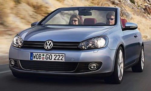 Volkswagen Golf Cabrio 2012, recreación