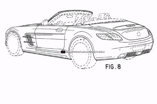 Mercedes SLS AMG Roadster, bocetos de diseño