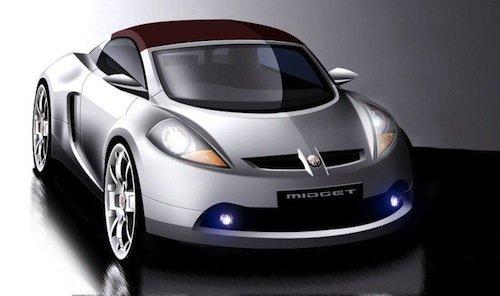 Boceto del nuevo MG Midget del 2005