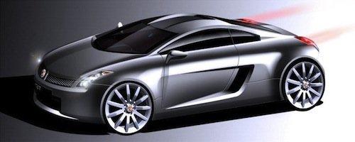 Boceto del nuevo MG GT del 2005
