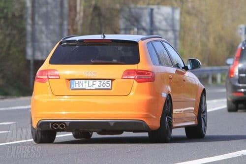 Audi RS3, mula de pruebas