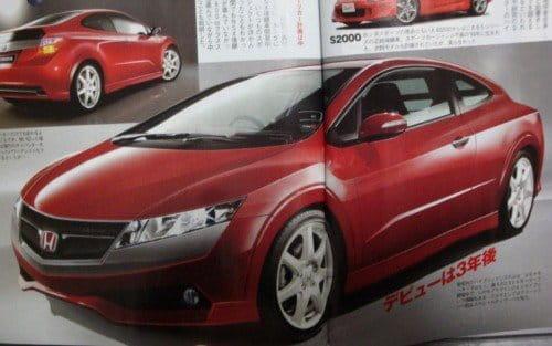 Futuro coupé híbrido de Honda (recreación)