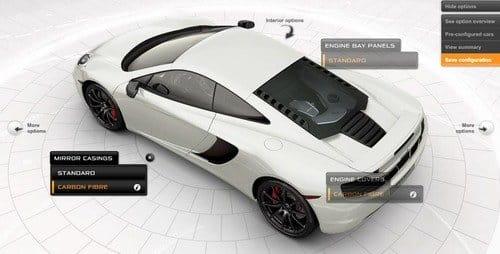 Configura el McLaren MP4-12C de tus sueños