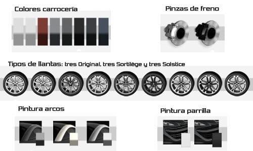 Peugeot RCZ, opciones del exterior