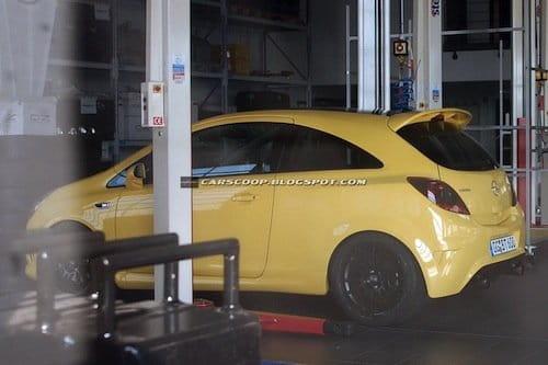 Fotos espía del posible Opel Corsa OPC Nürburgring Edition