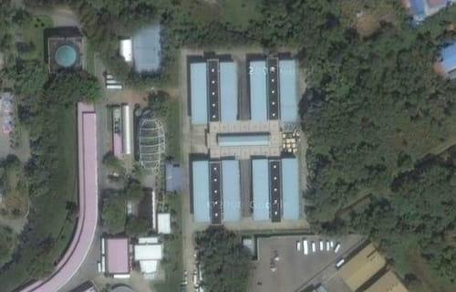 El garaje del Sultán de Brunei visto desde el aire (Google Maps)
