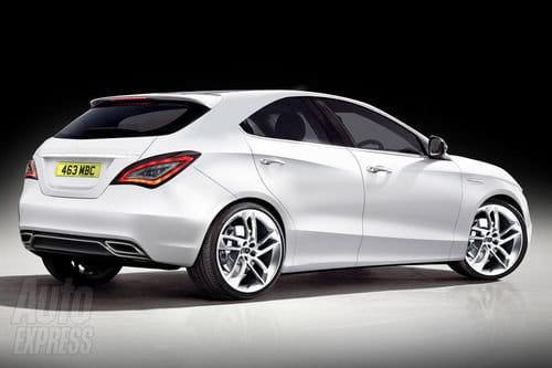 Recreación del futuro Mercedes Clase A