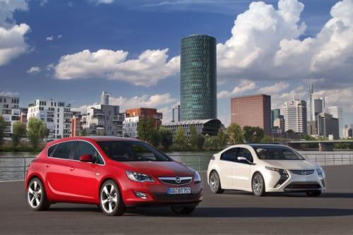 Opel Astra J y Opel Ampera