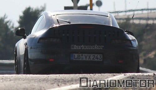 Fotografíamos el nuevo Porsche 911 de pruebas como prototipo