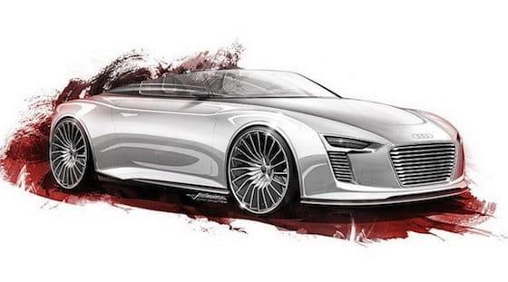 Audi e-Tron Spyder Concept, bocetos de diseño