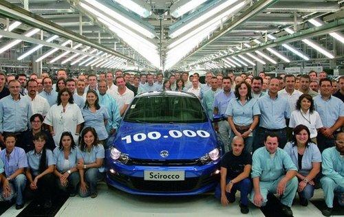 Volkswagen Scirocco, 100.000 unidades fabricadas en Portugal
