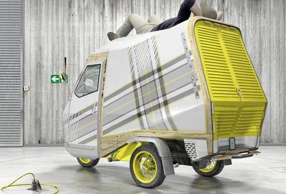 Concepto Bufalino, la autocaravana reducida a la mínima expresión