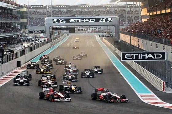 Salida GP Abu Dhabi 2010