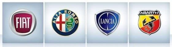 Marcas del grupo Fiat automóviles: Fiat, Alfa Romeo, Lancia, Abarth