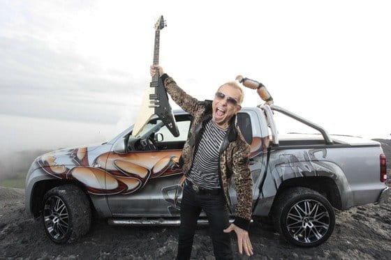 Una Volkswagen Amarok muy especial para los Scorpions