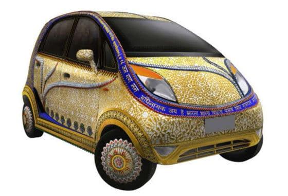 Tata Nano al estilo indio y cubierto de oro