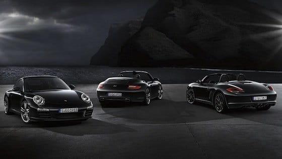 Porsche 911, 911 Cabrio y Boxster S Black Edition