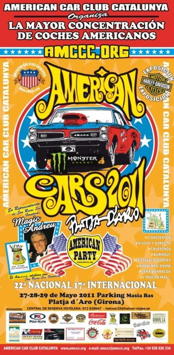 Poster del American Cars Platja d'Aro 2011