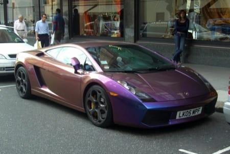 Lamborghini gallardo con pintura perlada distinto ngulo for Pintura color vison