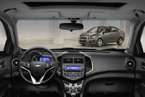 Interior del Chevrolet Aveo
