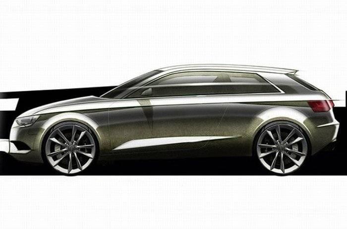 El diseño del nuevo Audi A3 de tres puertas en un boceto
