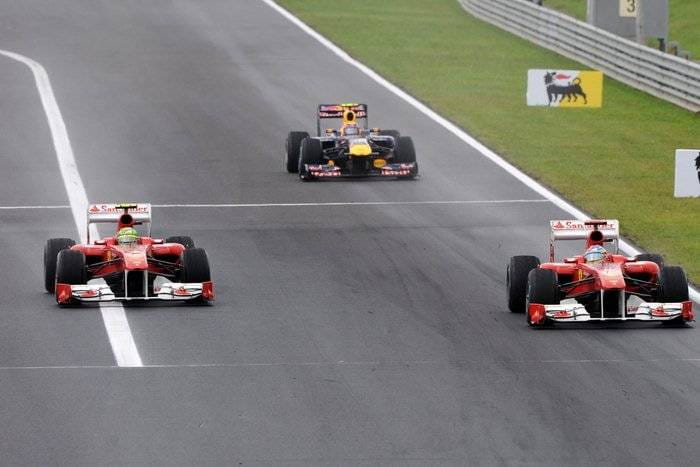 Alonso y Massa (Ferrari) - GP de Hungría 2011