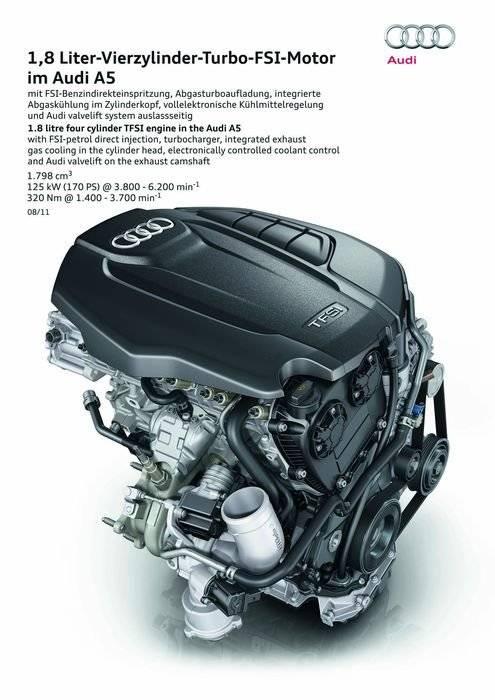 El motor 1.8 TFSI del Grupo Volkswagen, rediseñado con inyección directa e indirecta