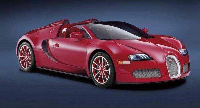 Bugatti Veyron Grand Sport en color rojo