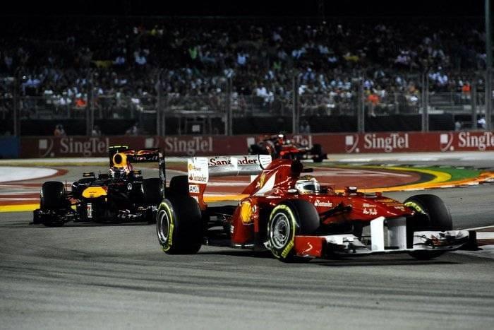 Fernando Alonso (Ferrari)) - GP de Singapur 2011