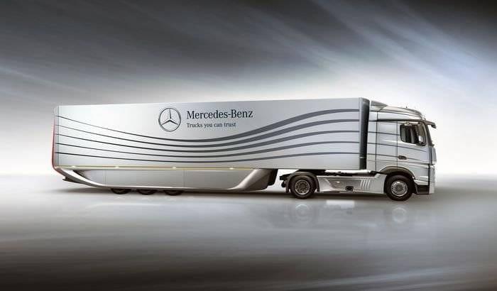 Mercedes fabrica un remolque más aerodinámico y eficiente