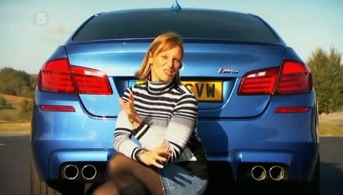 Vicki Butler-Henderson se pone al volante del BMW M5 para Fifth Gear