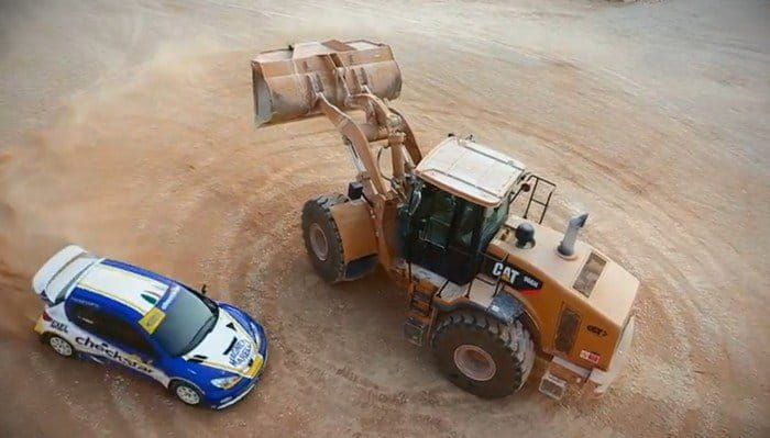 Drift War One de Luca Pedersoli con su Peugeot 206 WRC