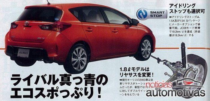 Toyota Auris 2013, primeras imágenes filtradas