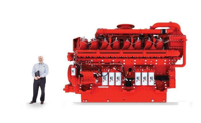 Cummins QSK95, un motor diésel de 4.000 CV y 16 cilindros ...