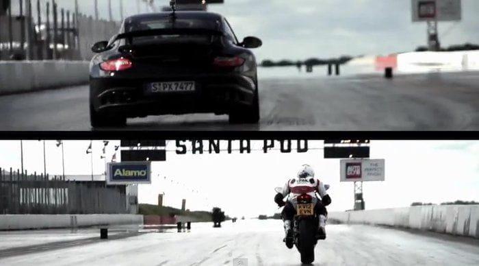 Porsche 911 GT2 RS contra Ducati 1199 Panigale