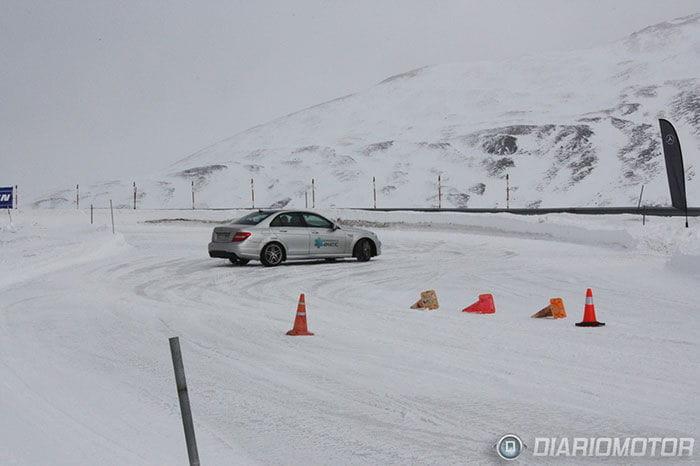 Probamos los neumáticos de invierno de Michelin sobre hielo y nieve en Andorra