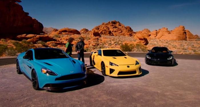 Top Gear Lexus Lfa Srt Viper Y Aston Martin Vanquish En