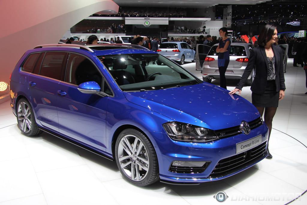 Volkswagen golf variant r line ginebra 2013 2 foto 2 de 10 for R line exterieur golf variant