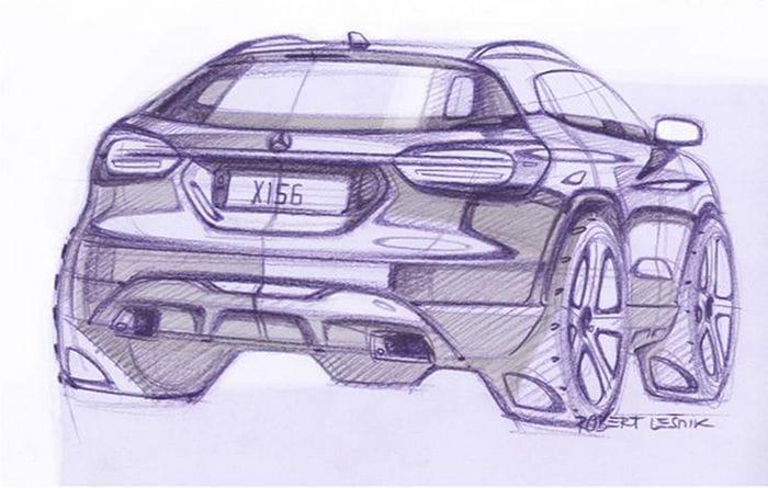 Mercedes GLA: dos bocetos que nos adelantan su inminente llegada
