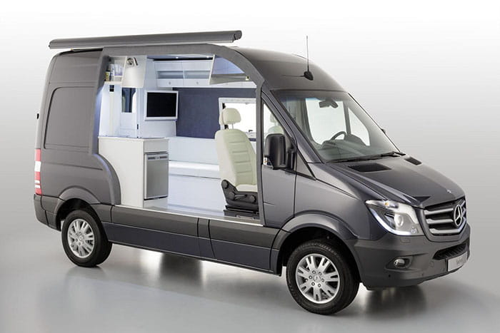 Mercedes sprinter caravan concept una casa en formato for Dixversion meuble