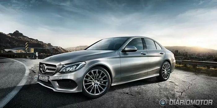 Mercedes clase c primeras im genes de su exterior for Interior mercedes clase c