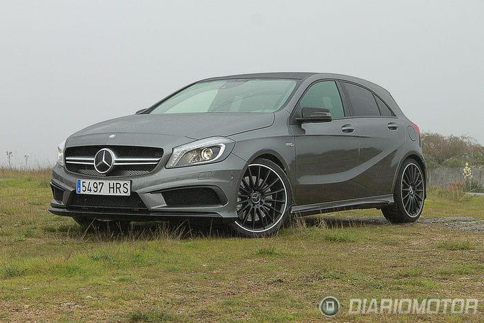 Prueba de contacto con el Mercedes A45 AMG: peligro, altamente adictivo