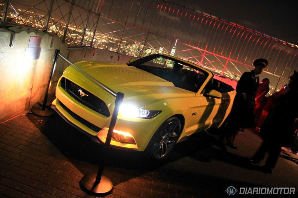 Viviendo el 50 aniversario del Ford Mustang en el Empire State Building