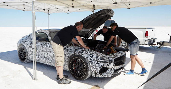 Mercedes AMG GT fotos en Boneville