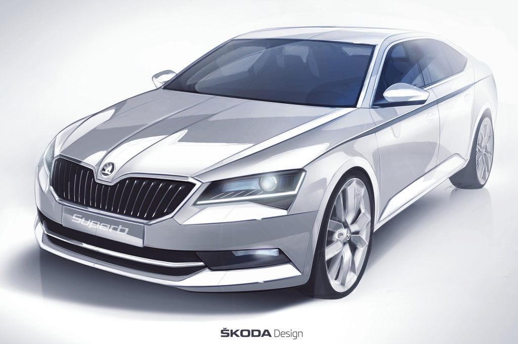 Skoda Superb 2015, un nuevo adelanto: lo veremos en Ginebra