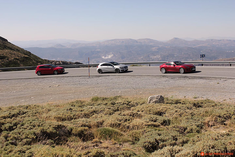 Jaguar F-Type R Coupé, Mercedes A45 AMG y Volkswagen Golf R