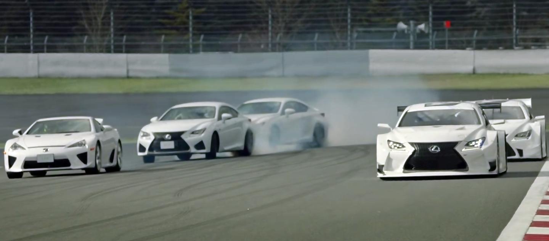 El vídeo más espectacular que verás hoy: Lexus LFA y RC F «bailando» en el circuito de Fuji