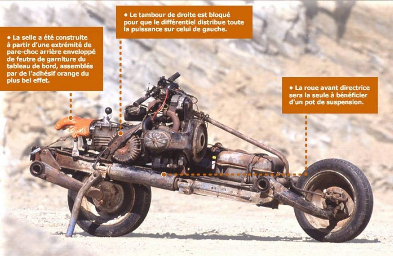 Convirti 243 Su Citro 235 N 2cv Accidentado En Una Moto Para Sobrevivir Al Implacable Sahara Foto 4 De 6