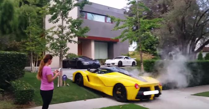 Destroza su LaFerrari y atemoriza a sus vecinos en Beverly Hills