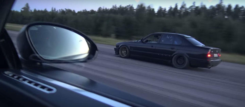 Este BMW M5 E34 tiene un turbo de camión, más de 1.000 CV y se merienda al Bugatti Veyron